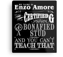 My Name is Enzo Amore-ZERO DIMES Metal Print