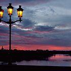 Bergerac Madeleine Bridge Blue Sunrise by Howard Worf