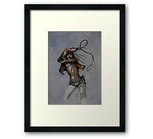 Sketch for Whip. Framed Print