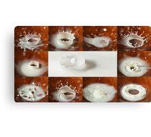 Milk Drop Montage Canvas Print
