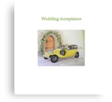 Wedding Acceptance Canvas Print