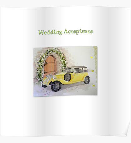 Wedding Acceptance Poster