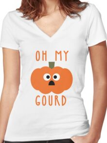 Oh My Gourd Women's Fitted V-Neck T-Shirt