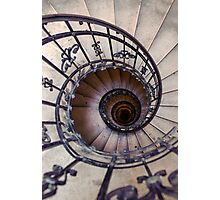 Metal spiral staircase Photographic Print