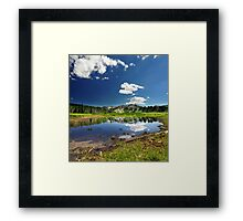 Willow Heights Lake, Utah Framed Print