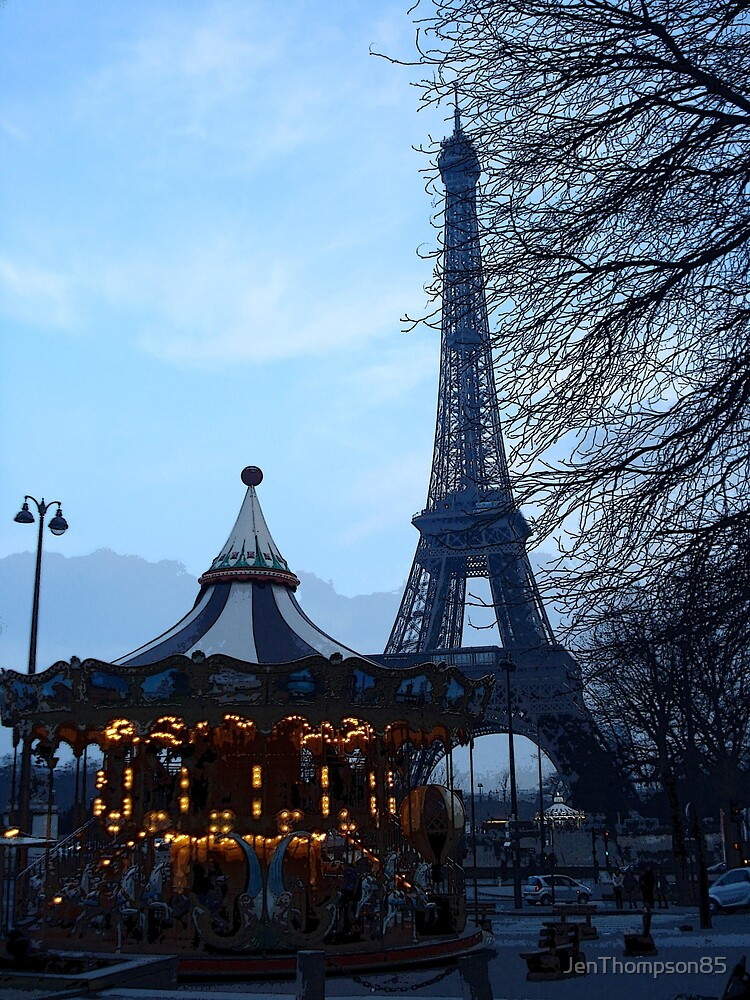 Paris Dusk by JenThompson85