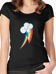 Rainbow Dash Cutie Mark (Medium icon) - My Little Pony Friendship is Magic Women's Fitted Scoop T-Shirt