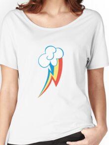 Rainbow Dash Cutie Mark (Medium icon) - My Little Pony Friendship is Magic Women's Relaxed Fit T-Shirt