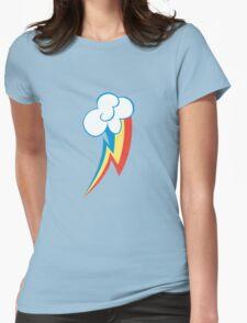 Rainbow Dash Cutie Mark (Medium icon) - My Little Pony Friendship is Magic Womens Fitted T-Shirt