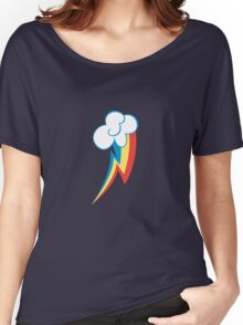 Rainbow Dash Cutie Mark (small icon) - My Little Pony Friendship is Magic Women's Relaxed Fit T-Shirt