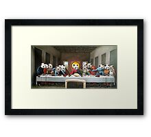Panda's Last Supper Framed Print
