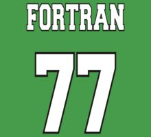 FORTRAN 77 - White on Green Design for Fortran Programmers Kids Tee