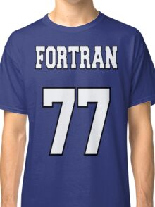 FORTRAN 77 - White on Green Design for Fortran Programmers Classic T-Shirt