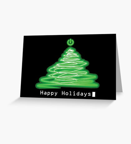 Merry Christmas and Happy Holidays! IT, Software Engineers, System Engineers, Hackers, Geeks  Greeting Card