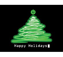 Merry Christmas and Happy Holidays! IT, Software Engineers, System Engineers, Hackers, Geeks  Photographic Print
