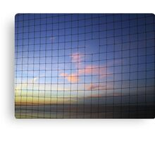 Netted Sunset - Whitstable, UK Canvas Print