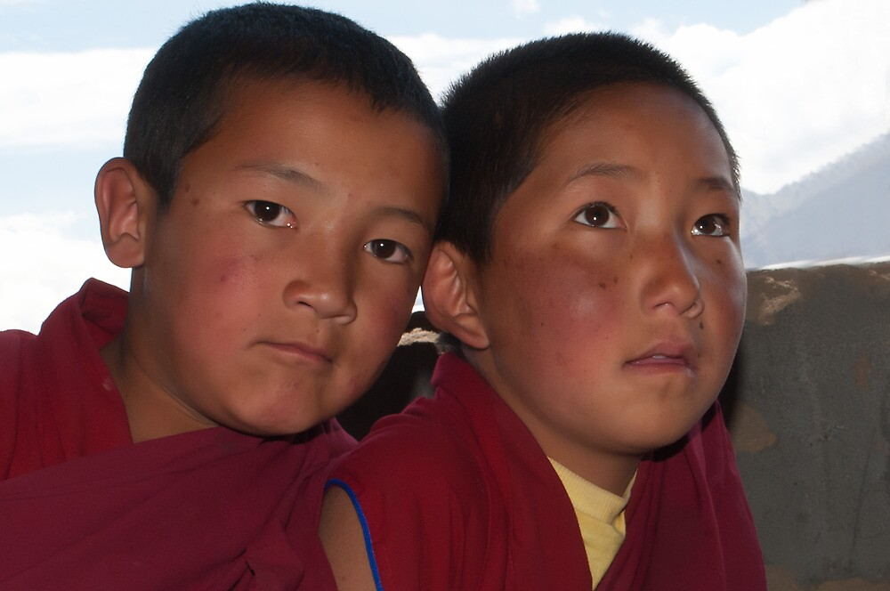 Young Monks from Ladakh by Mukesh Srivastava