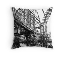 Black and White Garden - Paris Throw Pillow