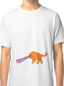 Sabre-Tooth Tiger Stalking a Pink Kitten (with laser eyes) Classic T-Shirt