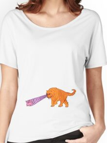 Sabre-Tooth Tiger Stalking a Pink Kitten (with laser eyes) Women's Relaxed Fit T-Shirt