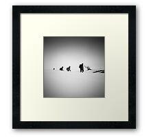 Human evolution Framed Print