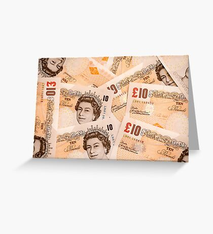 United Kingdom Ten pound notes Greeting Card
