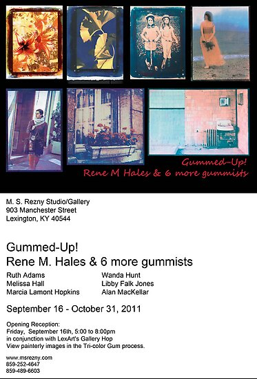 Gummed-Up! Invitation to Gallery Show by Rene Hales