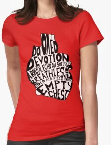 empty chest : anatomical heart  Womens Fitted T-Shirt