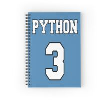 Python 3 - White on Blue Design for Python Programmers Spiral Notebook