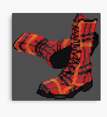 Rock Shoes - Pixel art Canvas Print
