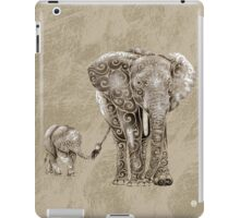 Swirly Elephant Family iPad Case/Skin