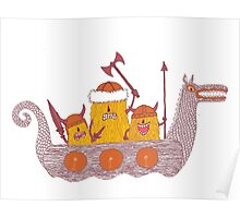 Viking Party Animals in a  Dragon Boat Poster