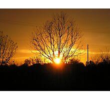 Autum Sun Photographic Print