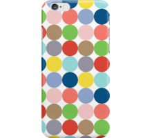 colorful circles of color in pastel iPhone Case/Skin