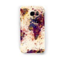 World Map Paint Splashes Samsung Galaxy Case/Skin