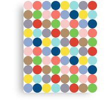 colorful circles of color in pastel Canvas Print