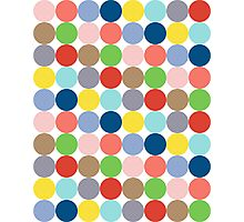 colorful circles of color in pastel Photographic Print