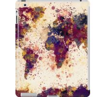 World Map Paint Splashes iPad Case/Skin