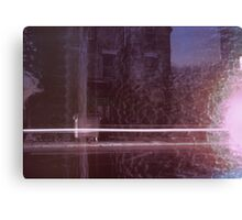 13 Chesterton Road / Light Streak on Old House and Melted Snow Canvas Print