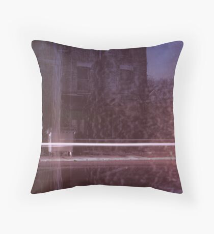 13 Chesterton Road / Light Streak on Old House and Melted Snow Throw Pillow
