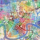 New Orleans Street Map by Michael Tompsett