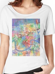 New Orleans Street Map Women's Relaxed Fit T-Shirt
