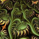 Sunflowers in UltraFractal by Heleen Hekkenberg