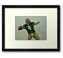 Rocket Favre Framed Print