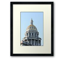 State Of Colorado Dome Framed Print