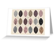 Nature Inspired Leaves  Greeting Card