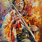 JIMY HENDRIX - Original oil painting on canvas by Leonid Afremov by Leonid  Afremov