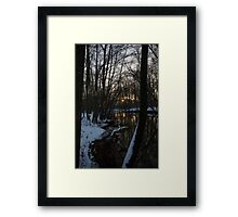 cold Sunset spot Framed Print