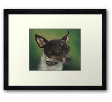 Tiny Toy Foxy Framed Print