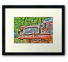 Rusty Bumper Framed Print
